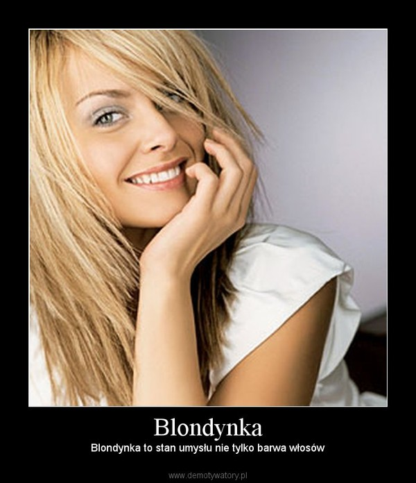 Blondynka on psu