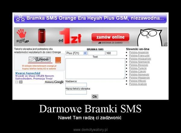 Darmowa bramka sms do niemiec