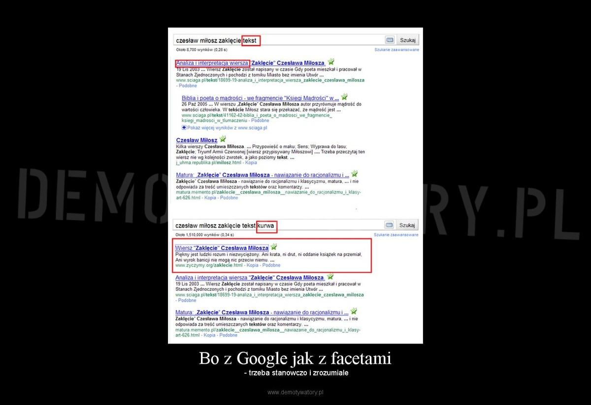 Bo Z Google Jak Z Facetami Demotywatorypl