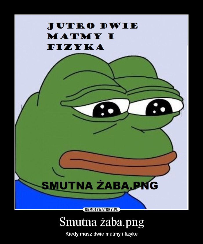 Smutna żaba Png Demotywatory Pl