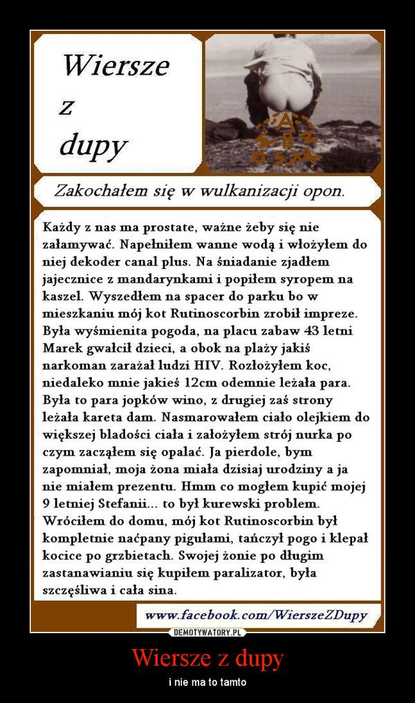 Wiersze Z Dupy Demotywatorypl