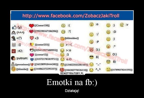 Emotki na fb:) ...