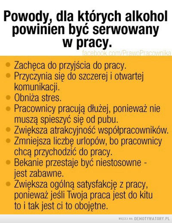 Znany Alkohol potrzebny w pracy – Demotywatory.pl YF-11