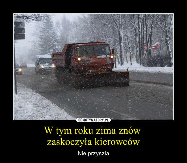 W tym roku zima znów   zaskoczy³a kierowców – Nie przysz³a