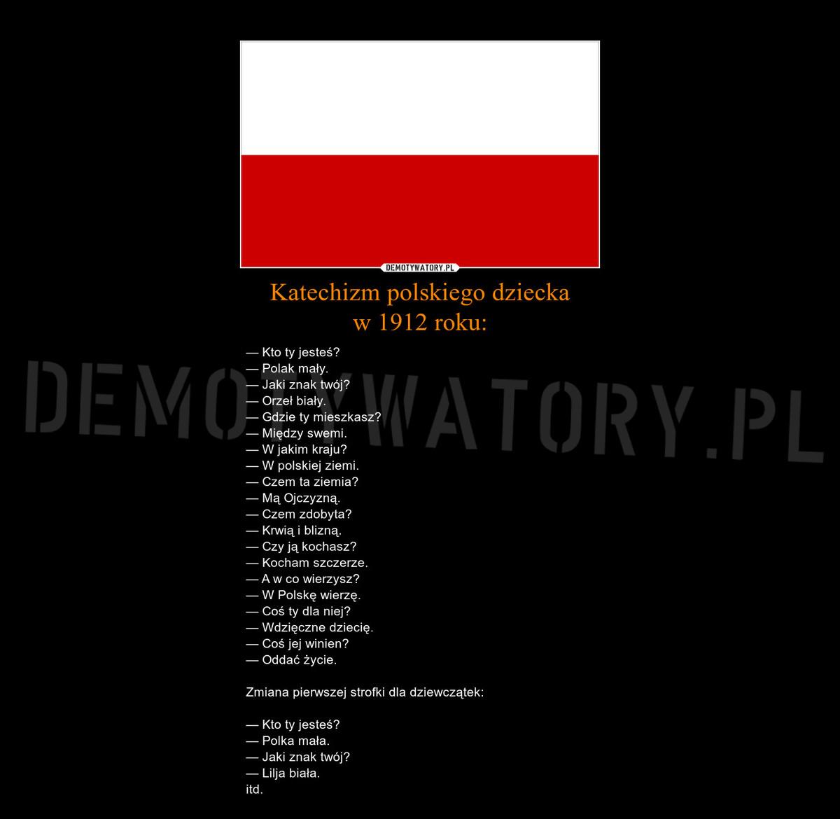 Katechizm Polskiego Dziecka W 1912 Roku Demotywatorypl