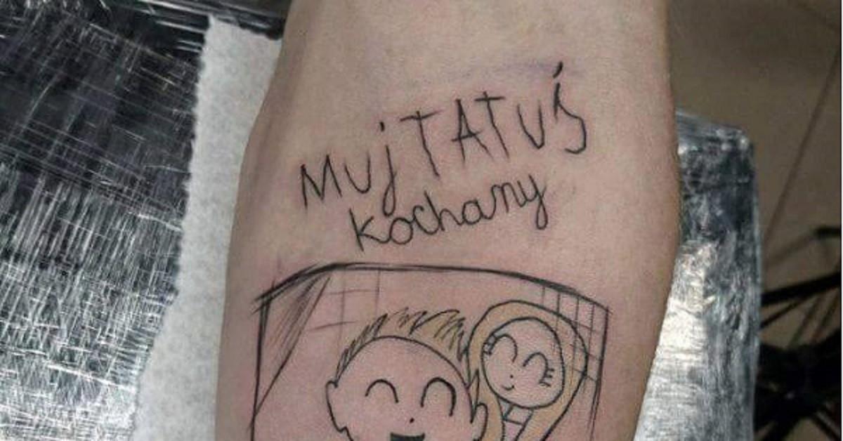 Ojciec Zrobił Sobie Tatuaż Z Rysunku Jaki Narysowała Mu