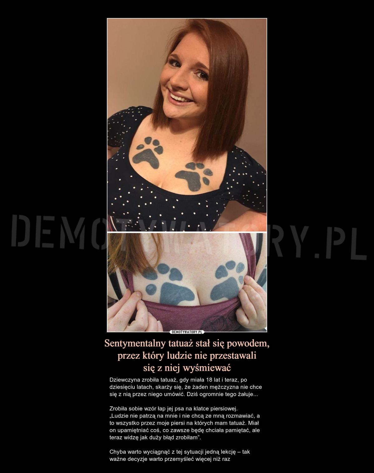 Sentymentalny Tatuaż Stał Się Powodem Przez Który Ludzie