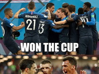Podsumowanie mundialu: –  WON THE CUP WON OUR HEARTS WON DO DOMU!!!