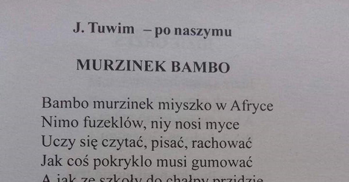 Murzynek Bambo Po śląsku Demotywatorypl