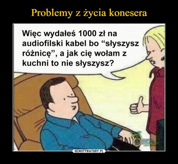 Problemy z życia konesera – Demotywatory.pl